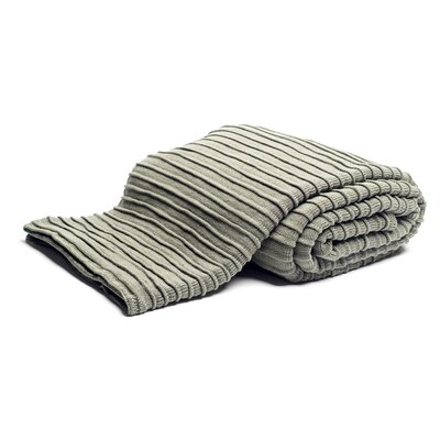 Pleated Knit Throw Color: Sage