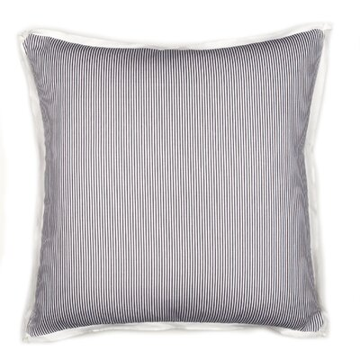 Augusta Pinstripe Cotton Throw Pillow Color: Charcoal