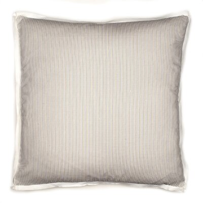 Augusta Pinstripe Cotton Throw Pillow Color: Grey