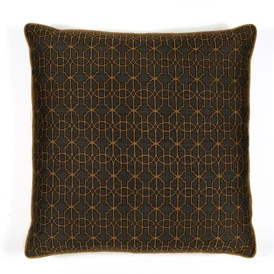 Byzantium Cotton Throw Pillow Color: Anthracite