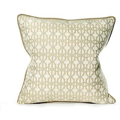Byzantium Cotton Throw Pillow Color: Blue Mist