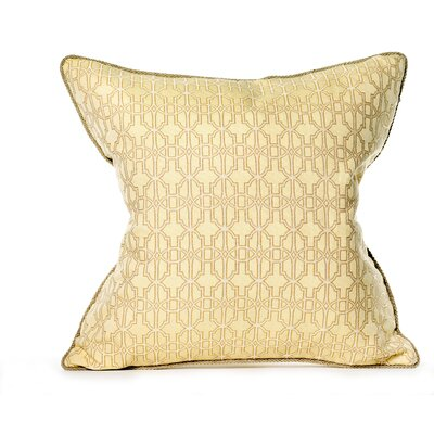 Byzantium Cotton Throw Pillow Color: Buttercup