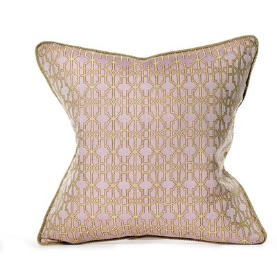 Byzantium Cotton Throw Pillow Color: Lavender