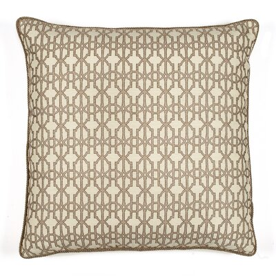 Byzantium Cotton Throw Pillow Color: Platinum