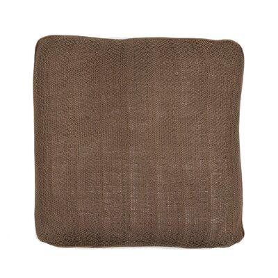 Knits Pebble Cotton Pillow Color: Stone