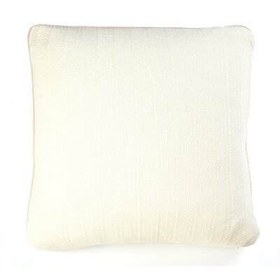 Knits Pebble Cotton Pillow Color: Ivory