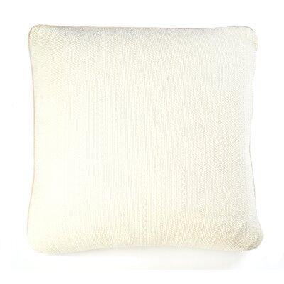 Knits Pebble Cotton Pillow Color: Ivory