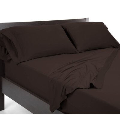 Reversible Sheet Set Color: Brown, Size: King