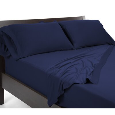 Reversible Sheet Set Size: King, Color: Navy