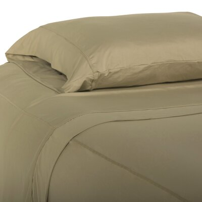 Performance Fabric Pillowcase Color: Khaki, Size: King
