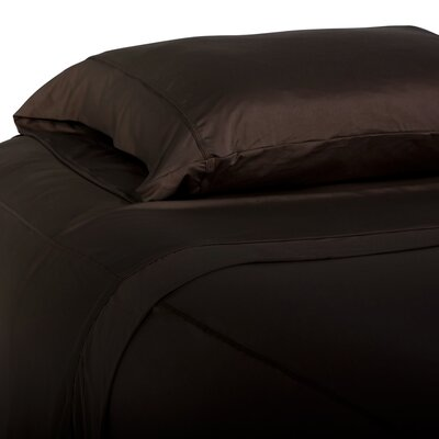 Performance Fabric Pillowcase Color: Espresso, Size: King