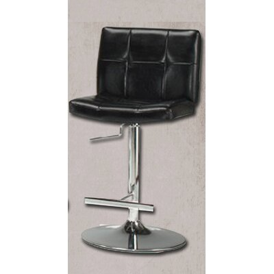 Miraval Adjustable Height Swivel Bar Stool Upholstery: Black