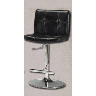 Miraval Adjustable Height Swivel Bar Stool Upholstery: Black
