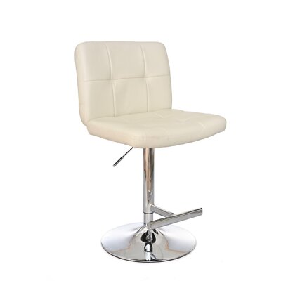 Adjustable Height Swivel Bar Stool Upholstery: Cloud