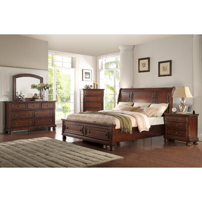 Yately Eastern King Panel 4 Piece Bedroom Set