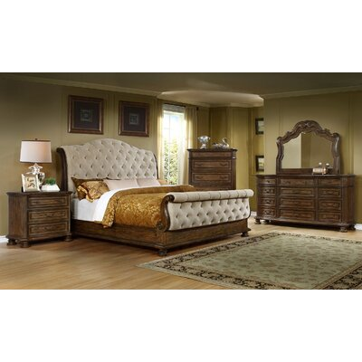 King Sleigh 4 Piece Bedroom Set
