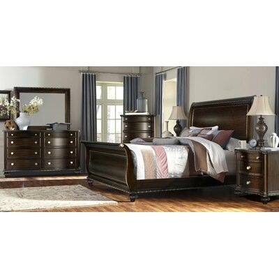 Sleigh 4 Piece Bedroom Set Size: King