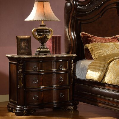 Erwan 3 Drawer Nightstand