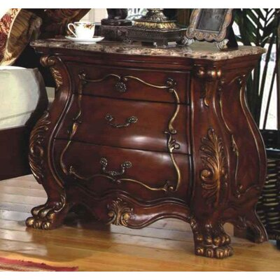 Adelia 3 Drawer Nightstand