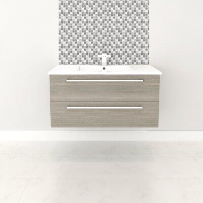 Silhouette 36 Wall-Mounted Single Bathroom Vanity Set Base Finish: Aria