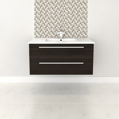 Silhouette 36 Wall-Mounted Single Bathroom Vanity Set Base Finish: Dark Chocolate