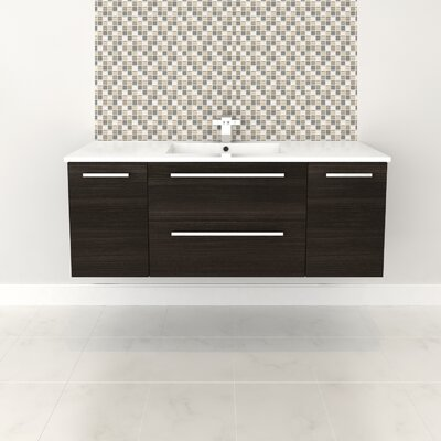 Silhouette 48 Single Bathroom Floating Vanity Set Base Finish: Dark Chocolate