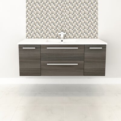 Silhouette 48 Single Bathroom Floating Vanity Set Base Finish: Zambukka