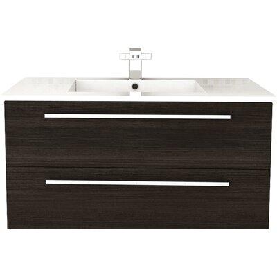 Silhouette 36 Single Bathroom Floating Vanity Set Base Finish: Dark Chocolate