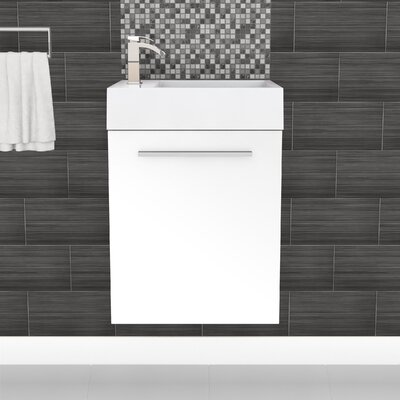 Boutique 18 Space Saver Vanity Base Finish: White