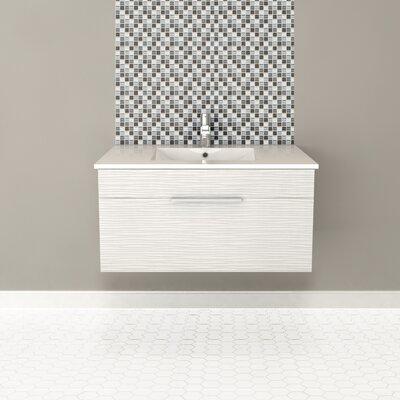 Textures 36 Single Floating Vanity Finish: Contour White