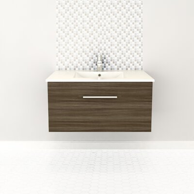 Textures 36 Single Floating Vanity Finish: Driftwood