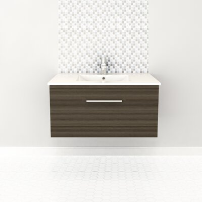 Textures 36 Single Floating Vanity Finish: Springblossom