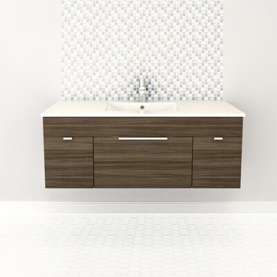 Textures 48 Single Floating Vanity Set Finish: Driftwood