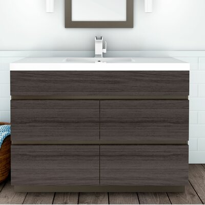 Boardwalk 48 Single Bathroom Vanity Set Finish: Karoo Ash