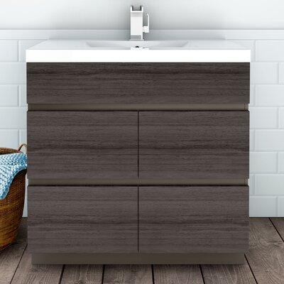 Boardwalk 36 Single Bathroom Vanity Set Finish: Karoo Ash