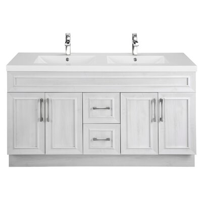Classic 60 Double Vanity Set Base Finish: Fogo Harbour