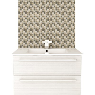 Silhouette 30 Wall-Mounted Single Bathroom Vanity Set Base Finish: White Chocolate