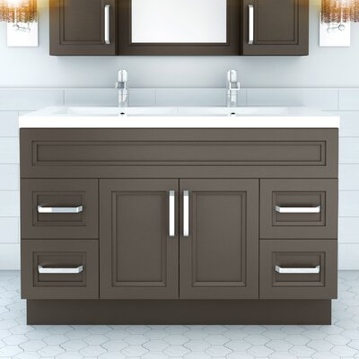 Urban 48 Vanity Double Bowl Finish: Dark Gray