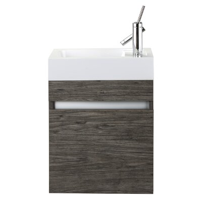 Piccolo 18 Single Bathroom Vanity Base Finish: Stargazer