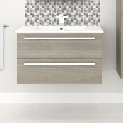 Silhouette 30 Wall-Mounted Single Bathroom Vanity Set Base Finish: Aria