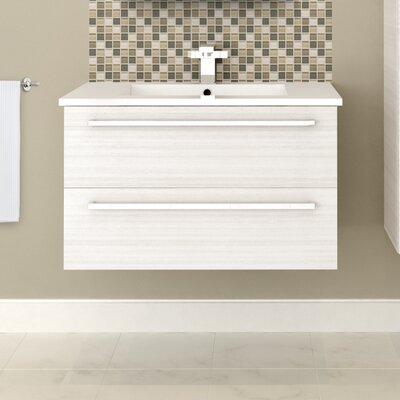 Silhouette 30 Wall Hung Vanity Set Base Finish: White Chocolate