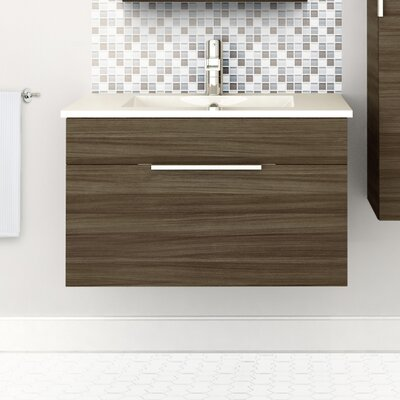 Textures 30 Single Floating Vanity Set Finish: Driftwood