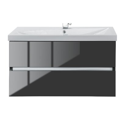 Sangallo 36 Single Bathroom Vanity Set Base Finish: Lava Gray