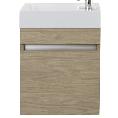 Piccolo 18 Single Bathroom Vanity Set Base Finish: Casting at First Light