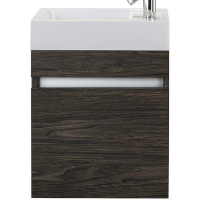 Piccolo 18 Single Bathroom Vanity Set Base Finish: Tete-a-Tete