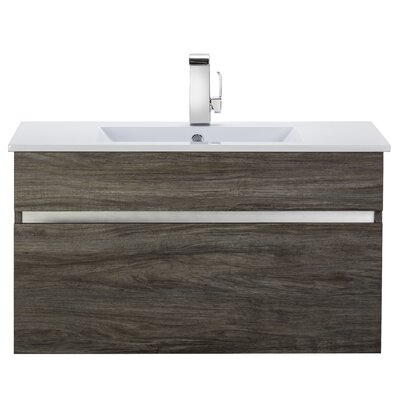 Ivory Floating 36 Single bathroom Vanity