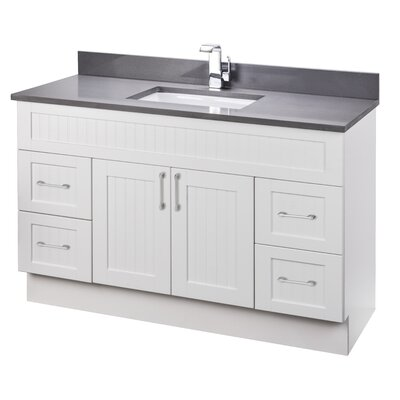 Stratford Cottage 49 Single Bathroom Vanity Set with Quartz Top