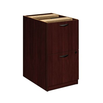 27.75 H x 15.63 W Desk File Pedestal Style: 2 Files, Finish: Mahogany