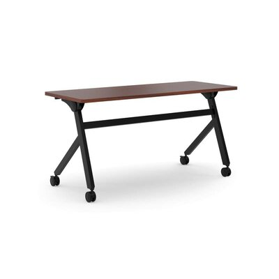 Flipper Training Table with Wheels Tabletop Finish: Chestnut, Size: 29 H x 60 W x 23.6 D