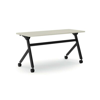 Flipper Training Table with Wheels Tabletop Finish: Light Gray, Size: 29 H x 60 W x 23.6 D
